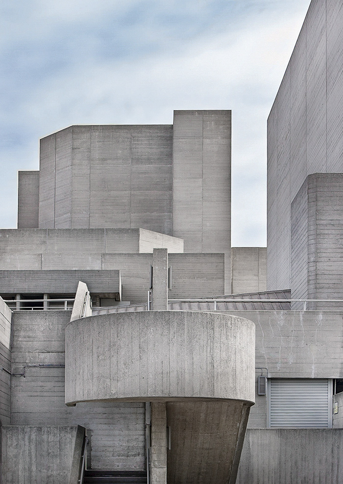 NATIONAL THEATRE, LONDON, DESIGNED BY DENYS LASDUN, 1976 I © HEARTBRUT / KARIN HUNTER BÜRKI