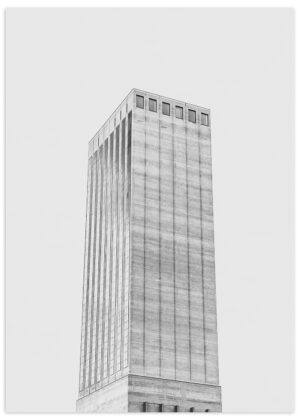 SWISSMILL TOWER, ZURICH I Limited Edition Art Print in A1 I BRUTALIST BEAUTIES Collection I © HEARTBRUT 2019