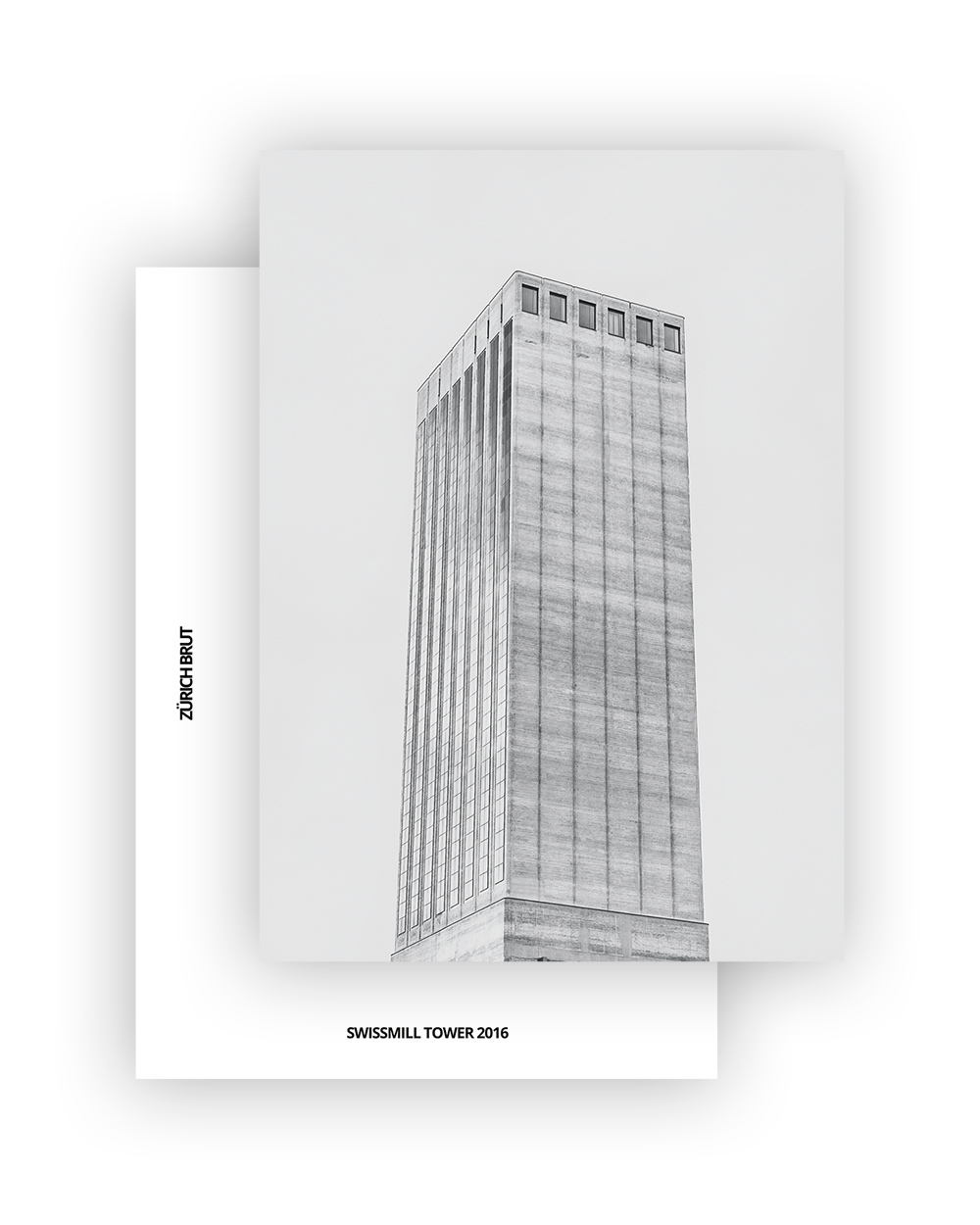 SWISSMILL TOWER I HARDER HAAS PARTNER AG I ZÜRICH BRUT POSTCARD A6 I ©HEARTBRUT/KARIN HUNTER BÜRKI