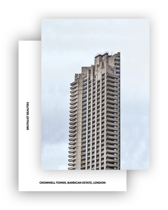 CROMWELL TOWER I CHAMBERLIN, POWELL & BON I POSTCARD I ©HEARTBRUT/KARIN HUNTER BÜRKI 2019