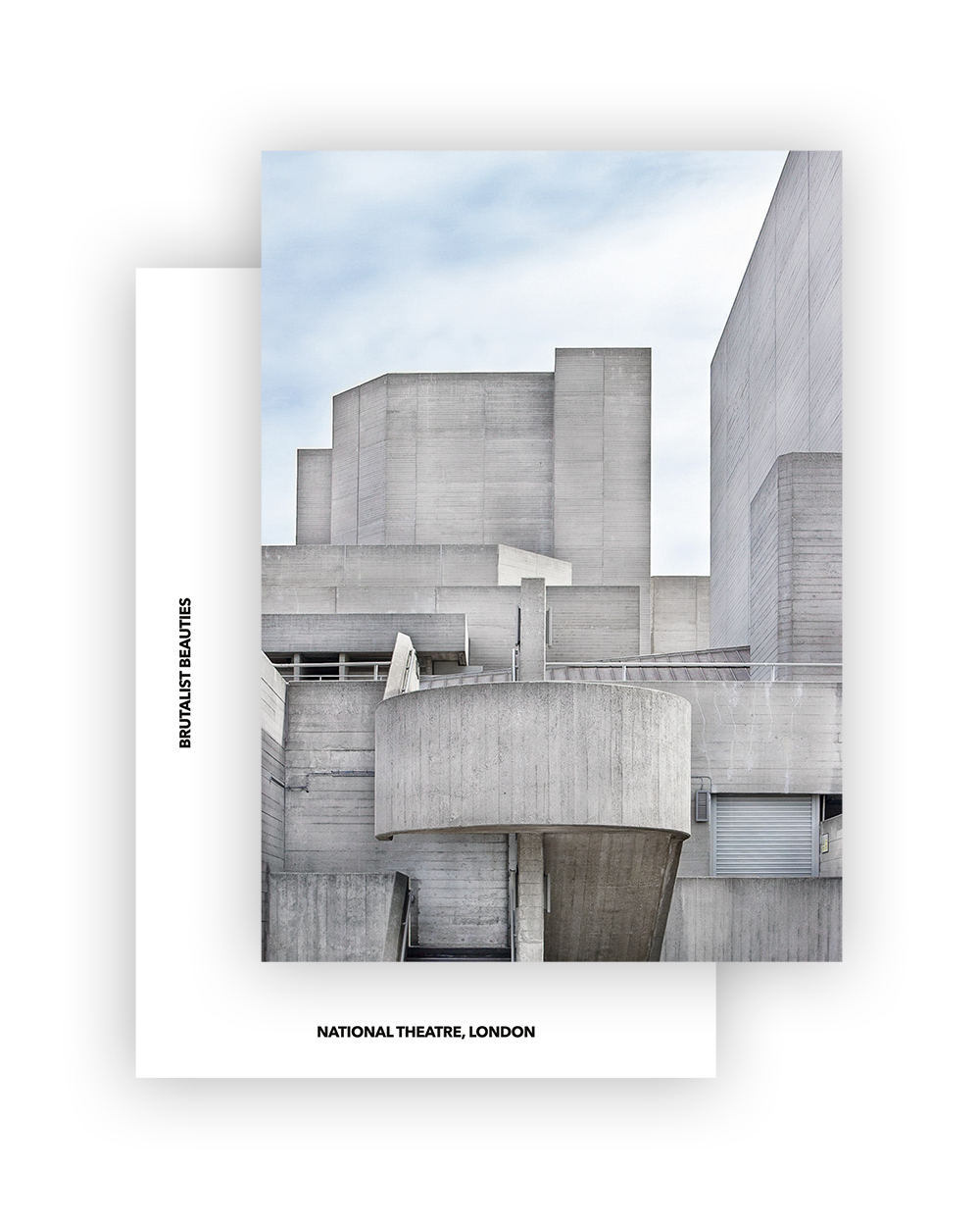NATIONAL THEATRE I DENYS LASDUN I BRUTALIST BEAUTIES POSTCARD A6 I © HEARTBRUT/KARIN HUNTER BÜRKI