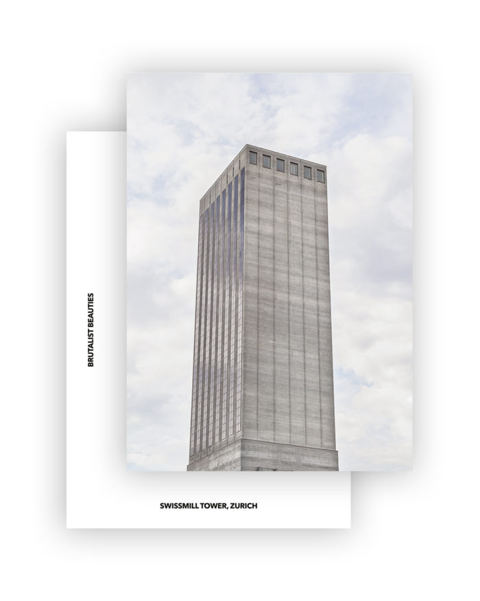 SWISSMILL TOWER I HARDER HAAS PARTNER AG I BRUTALIST BEAUTIES POSTCARD A6 I ©HEARTBRUT/KARIN HUNTER BÜRKI