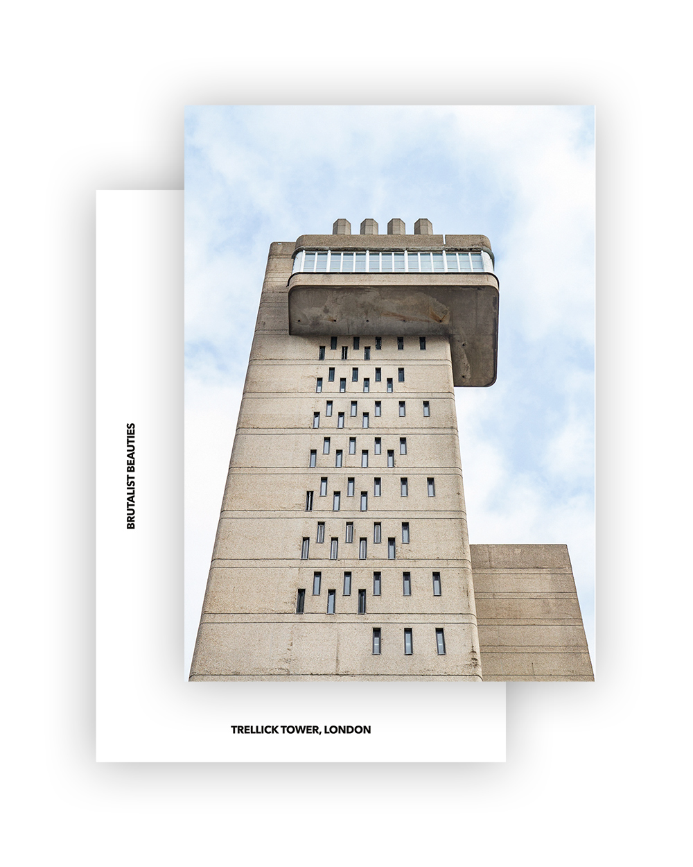 TRELLICK TOWER I ERNÖ GOLDFINGER I BRUTALIST BEAUTIES POSTCARD A6 I ©HEARTBRUT/KARIN HUNTER BÜRKI
