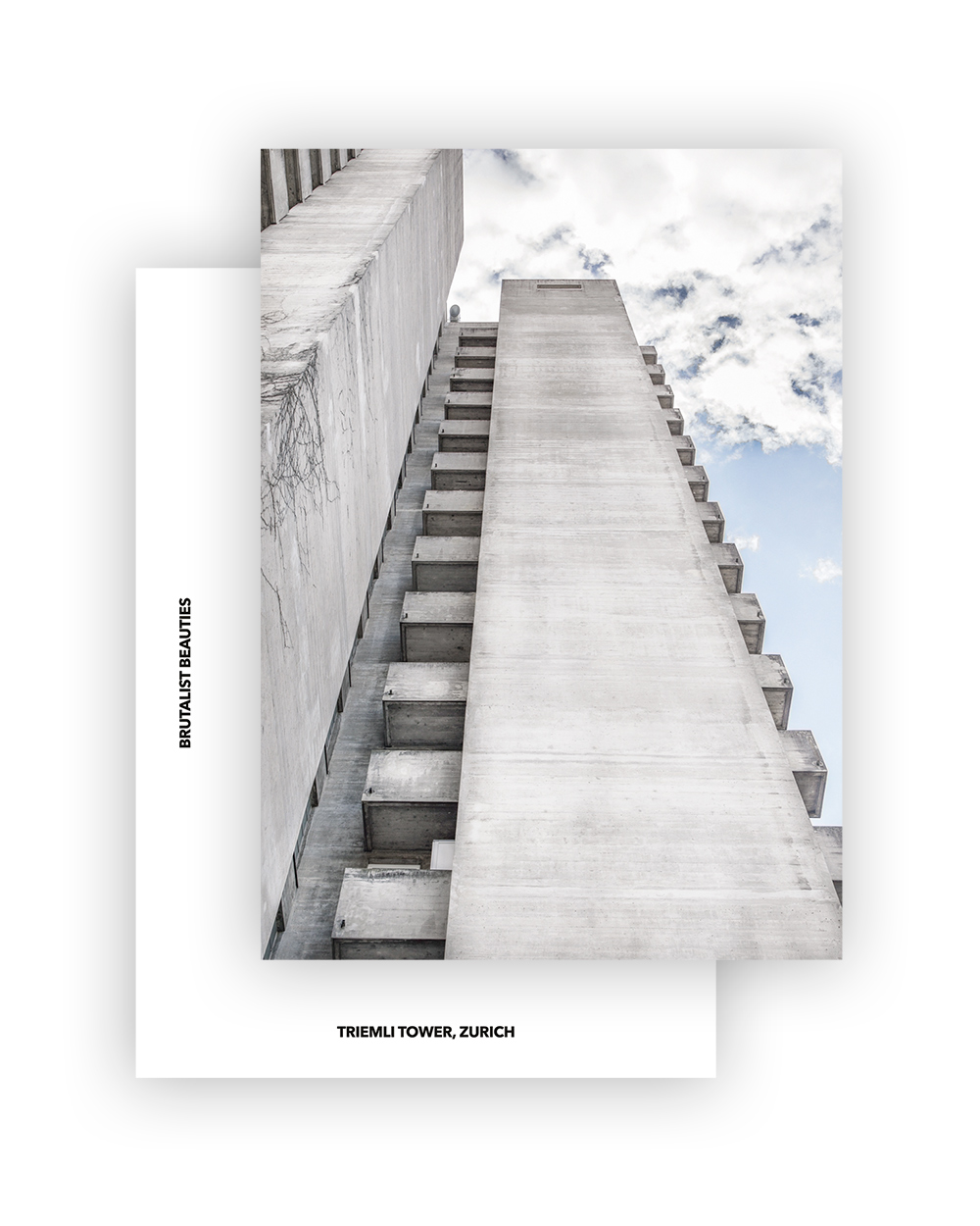 TRIEMLI TOWER I ESTHER & RUDOLF GUYER I BRUTALIST BEAUTIES POSTCARD A6 I © HEARTBRUT/KARIN HUNTER BÜRKI