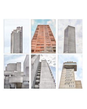 BRUTALIST BEAUTIES POSTCARD SET I LONDON & ZURICH, A6 I © HEARTBRUT / KARIN HUNTER BÜRKI, 2019
