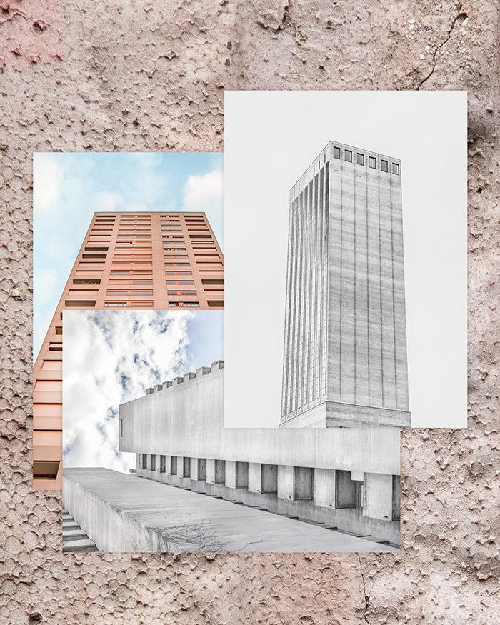 ZÜRICH BRUT POSTCARD SET, A6 I TRIEMLI, SWISSMILL TOWER, HARDAU I ©HEARTBRUT 2019 / KARIN HUNTER BÜRKI