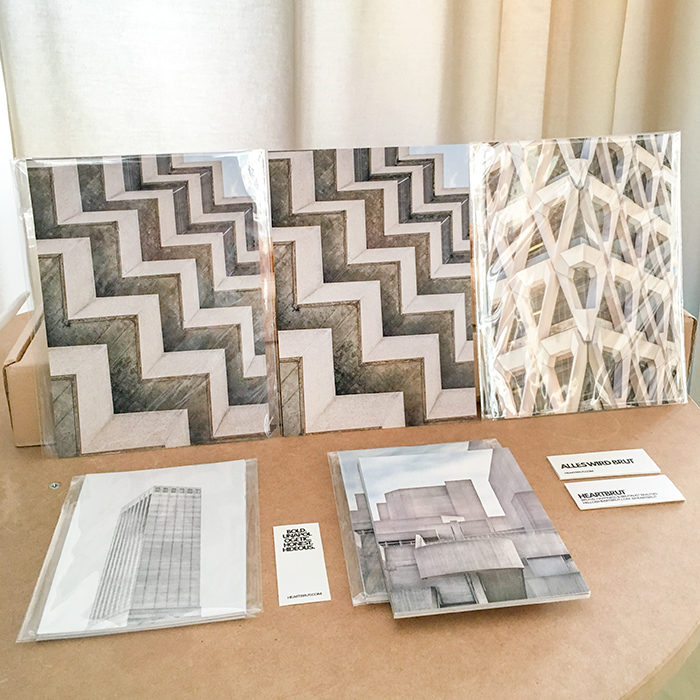 BRUTALIST BEAUTIES SET OF POSTCARDS AT PRINT MATTERS! STORE IN ZURICH I ©HEARTBRUT/KARIN HUNTER BÜRKI