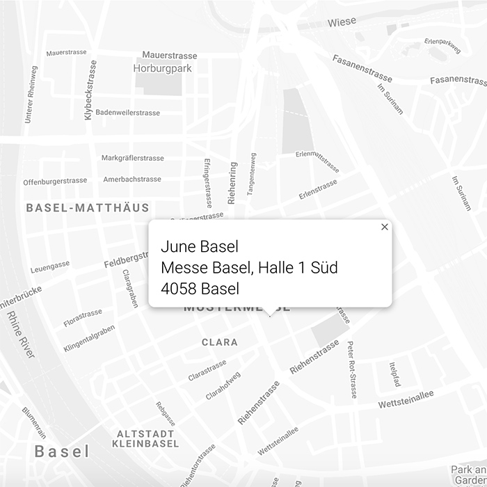 June Basel Art Basel Map