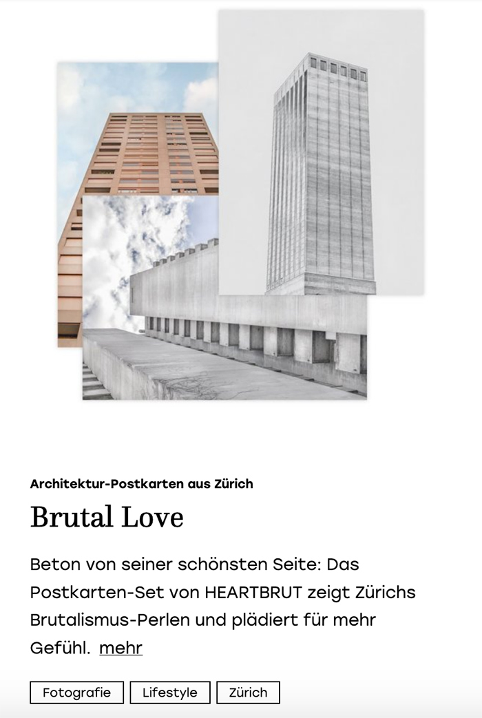 Zürich Brut Press Feature I Metermagazin I May 2019