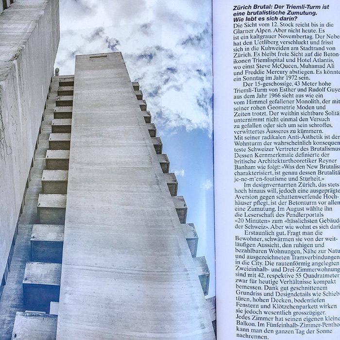 Zürich Brutal: Der Triemli-Turm ist eine brutalistische Zumutung. Wie lebt es sich darin? Image & Text for +41 Magazine I © HEARTBRUT / Karin Hunter Bürki