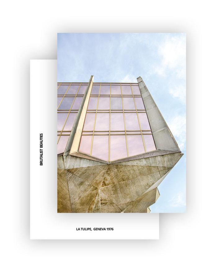 La Tulipe No3 Postcard, A6 I Brutalist Beauties I © Heartbrut / Karin Hunter Bürki