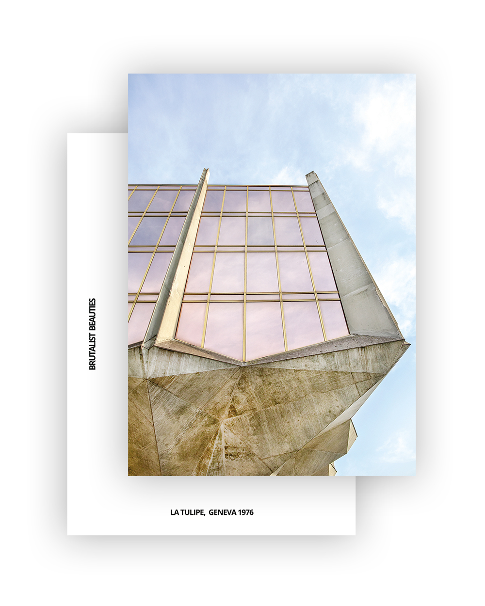 La Tulipe No3 Postcard, A6 I Brutalist Beauties I © Heartbrut / Karin Hunter Bürki