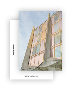 La Tulipe No1 Postcard, A6 I Brutalist Beauties I © Heartbrut / Karin Hunter Bürki