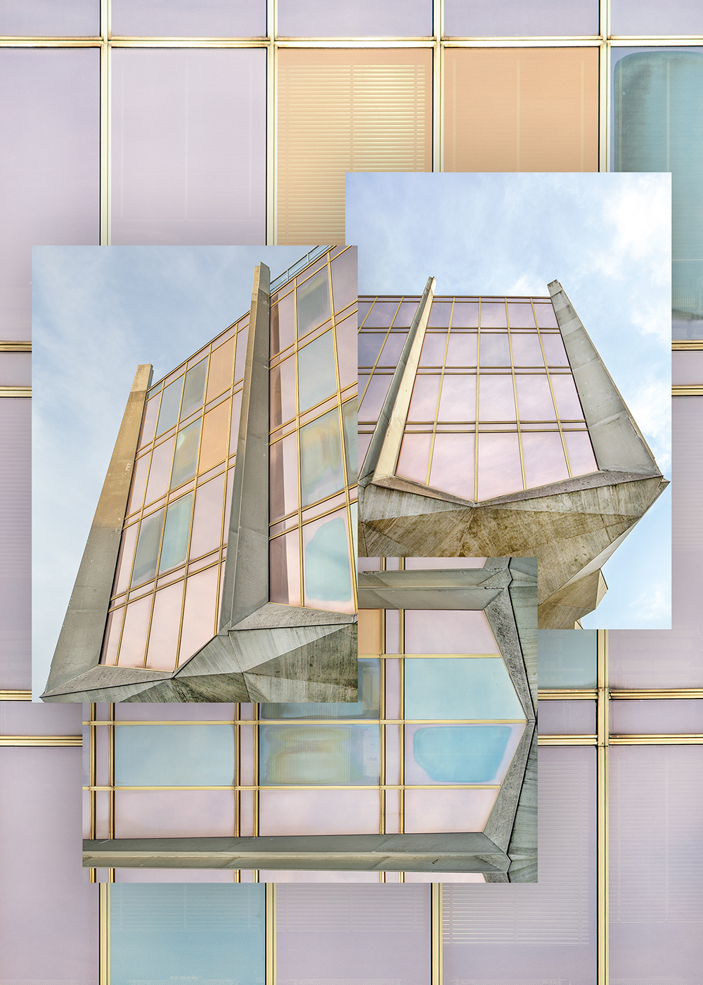 La Tulipe, set of 3 postcards, A6 I Brutalist Beauties series I © HEARTBRUT / Karin Hunter Bürki