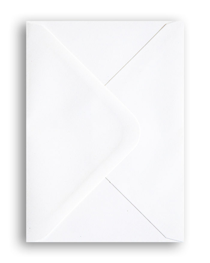 Brutalist Beauties I White blank envelope A6 I © HEARTBRUT / Karin Hunter Bürki