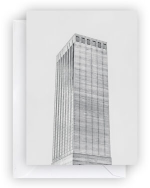 Swissmill Tower, Postcard, A6 I Zürich Brut Edition I © HEARTBRUT / Karin Hunter Bürki