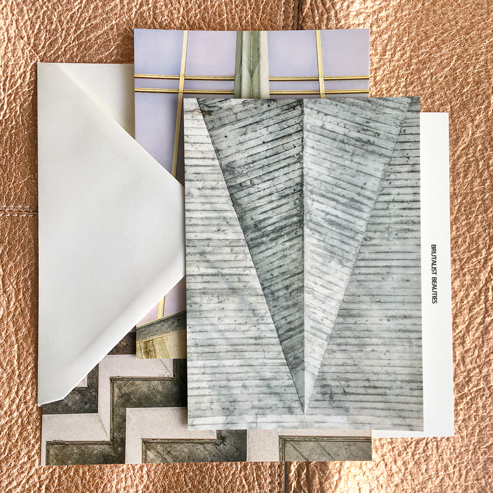 Dreaming of a brutalist Christmas? Make it come true with our care package of Brutalist Beauties cards & prints.