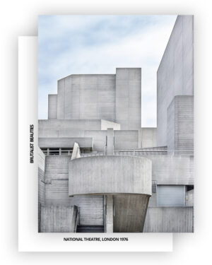 National Theatre Card A6, Front, Back, Brutalism I Shop on Heartbrut.com