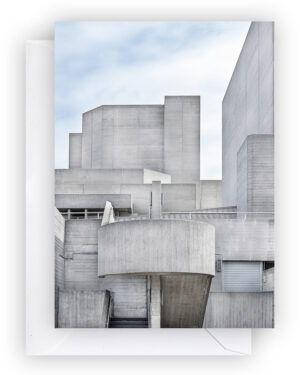 National Theatre Card A6, Front, Envelope, Brutalism I Shop on Heartbrut.com