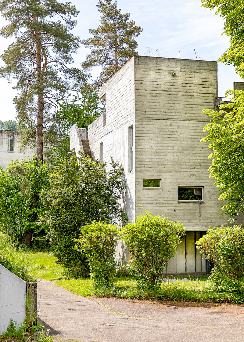 Flamatt I, Terraced Houses, Atelier 5, Flamatt 1958, Brutalism © HEARTBRUT / Karin Hunter Bürki
