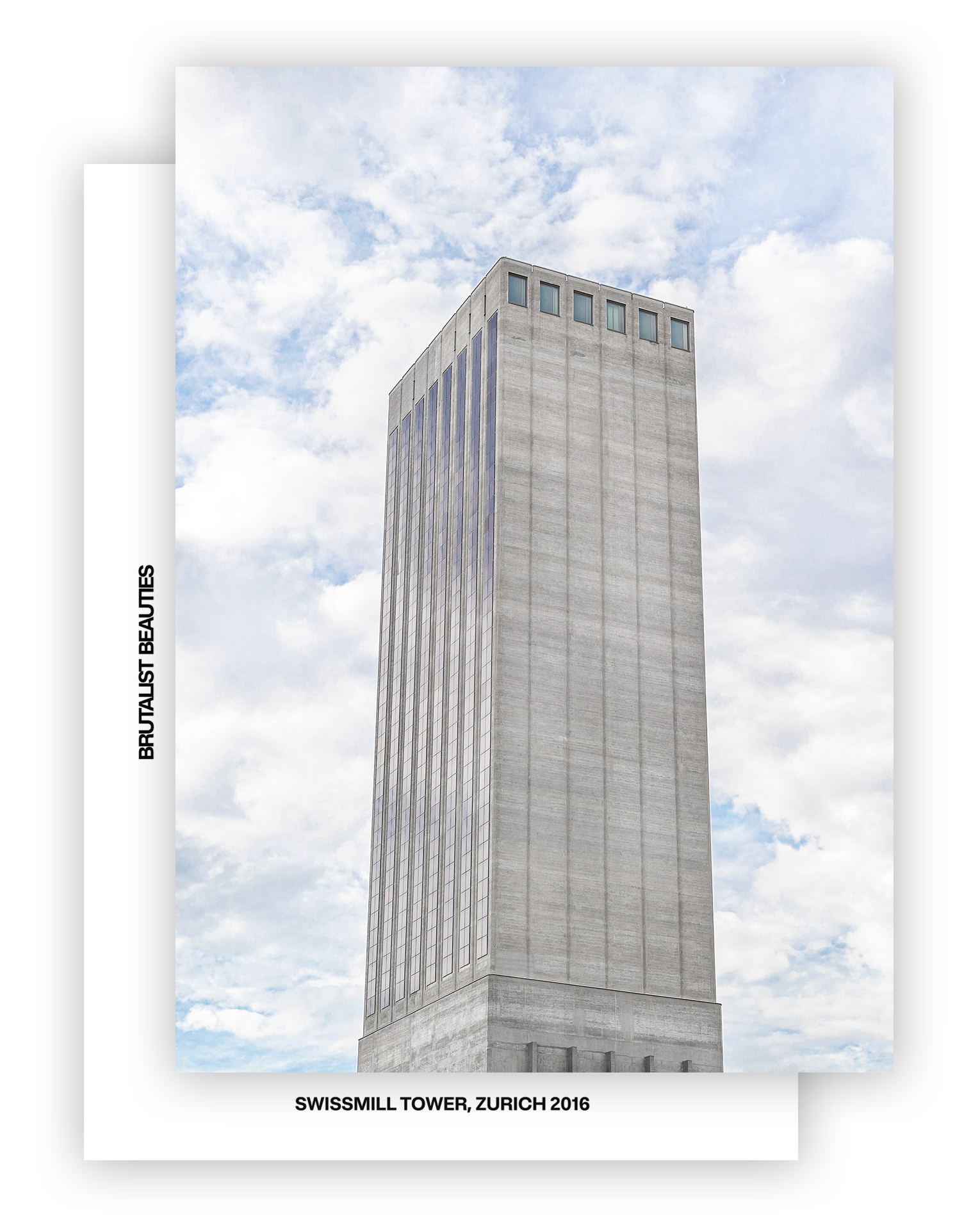 Swissmill Tower Card A6, Front & Back I © Karin Bürki I Shop on Heartbrut.com