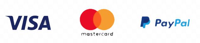 Payment Provider Logos Visa Mastercard PayPal