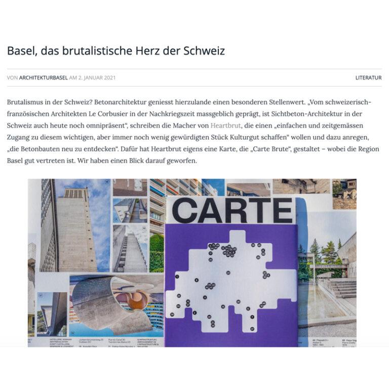 Architektur Basel Feature on CARTE BRUTE
