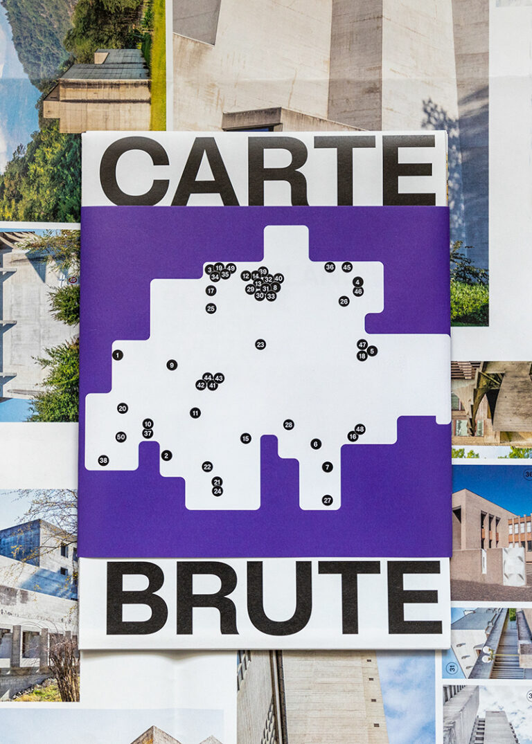 CARTE BRUTE: 50 most striking Swiss béton brut icons from the past 100 years, detail view, © IMGS: Karin Bürki / HEARTBRUT, © DESIGN: lugma I Shop on Heartbrut.com