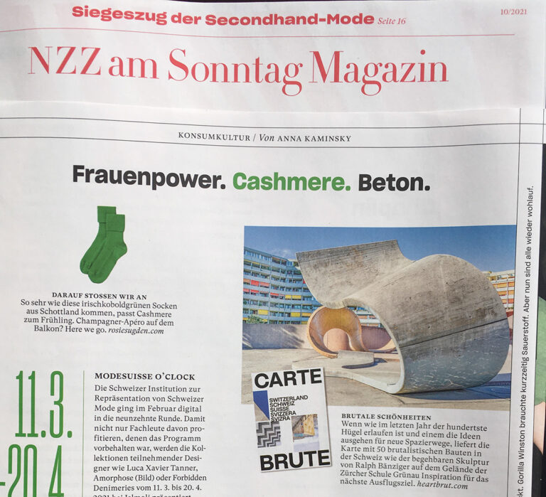 Carte Brute, Press Clipping, NZZ am Sonntag Magazin, Swiss Brutalism, Schweizer Brutalismus, Beton, Concrete, Ostschweiz I © Karin Bürki / Heartbrut.com, 2021