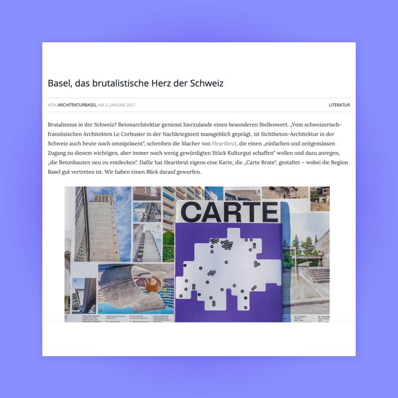 Basel, das brutalistische Herz der Schweiz, Feature in Architektur Basel, 2021. Explore more on Heartbrut.com
