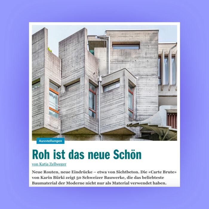 Roh ist das neue Schön: Carte Brute Feature, Berner Kulturagenda, 2021. Explore more on Heartbrut.com