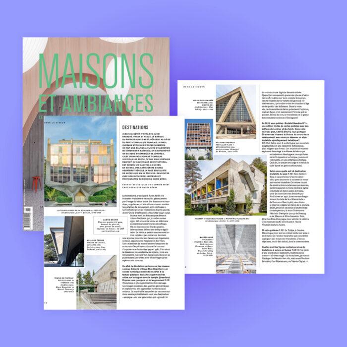Carte Brute Feature & Interview, Maisons et Ambiances, 2021. Explore more on Heartbrut.com
