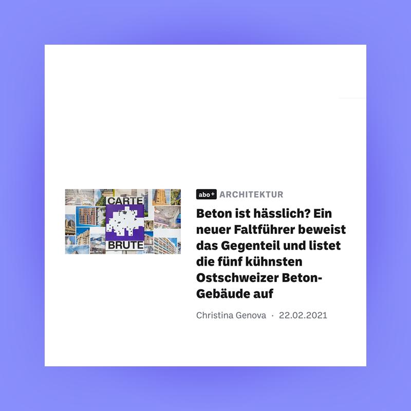 Carte Brute Feature, St. Galler Tagblatt, 2021. Explore more on Heartbrut.com