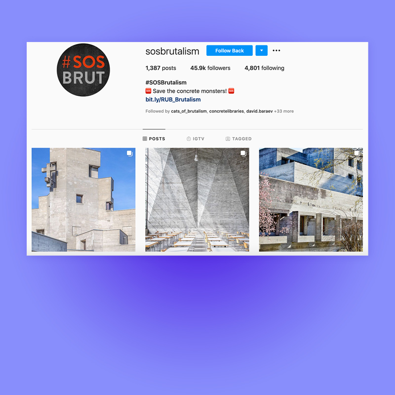 Heartbrut featured in SOS Brutalism, 2019. Explore more on Heartbrut.com